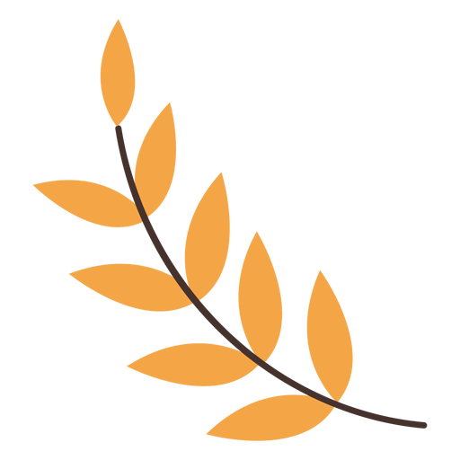 Autumn Leaf Branch Cartoon Transparent Png Svg Vector File
