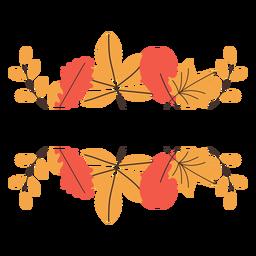 Elementos de borde de hojas de otoño
