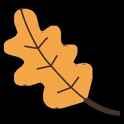 Desenho de folha de carvalho de outono