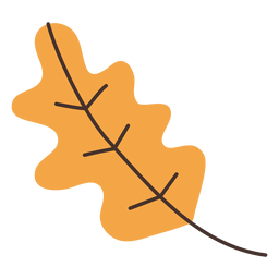 Dibujos animados de hoja de roble otoño