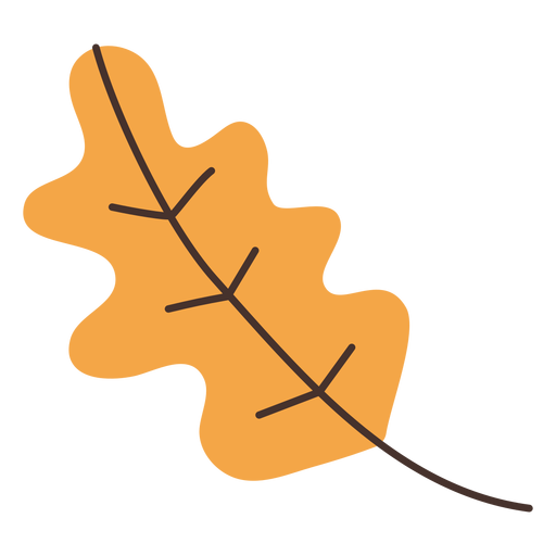 Dibujos animados de hoja de roble otoñal Transparent PNG