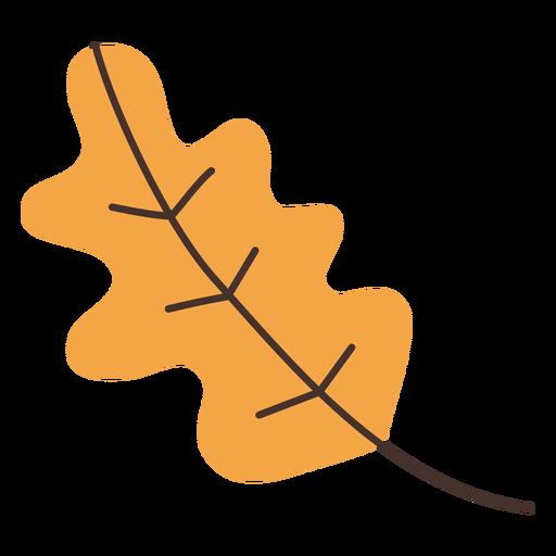 Dibujos animados de hoja de roble otoñal