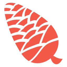 Autumn pine cone silhouette