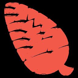 Silueta de cono de pino otoñal