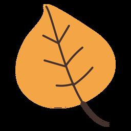Autumn poplar leaf cartoon