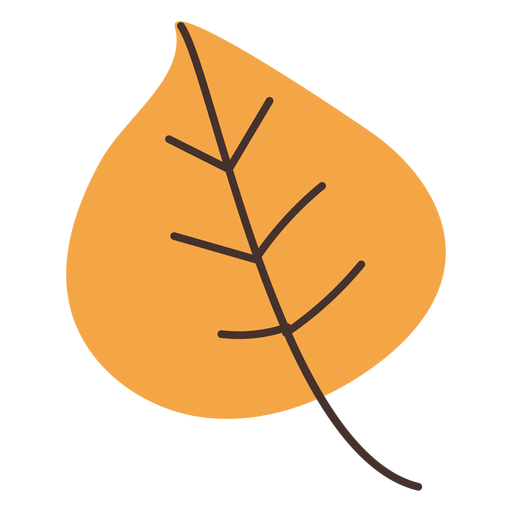Desenho de folha de álamo de outono