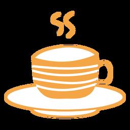 Autumn tea cup cartoon