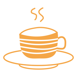 Dibujos animados de taza de té de otoño