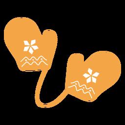 Dibujos animados de guantes de tema otoñal