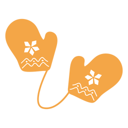 Dibujos animados de guantes de tema otoño