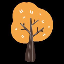 Desenho de árvore outono