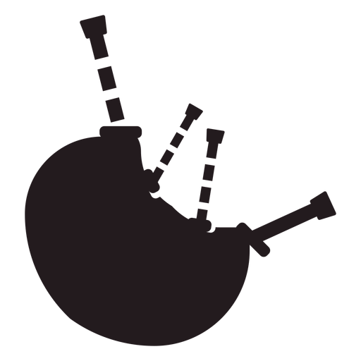 Bagpipes musical instrument black Transparent PNG