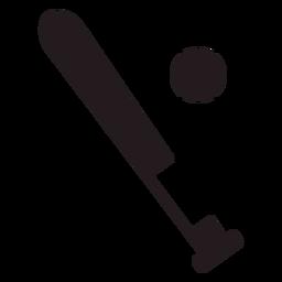 Baseball bat and ball black