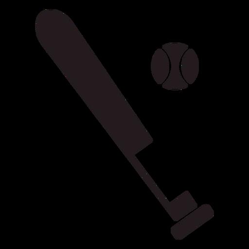 Download Baseball bat and ball black - Transparent PNG & SVG vector ...