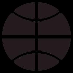 Bola de basquete preta