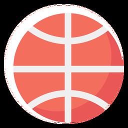 Balón de baloncesto icono plano baloncesto