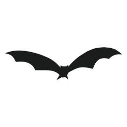 Bat flying front view silhouette
