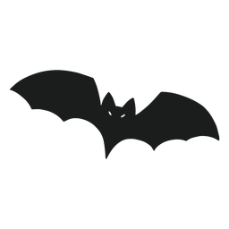 Murciélago volando silueta