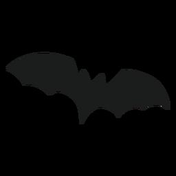 Silueta voladora de murciélago