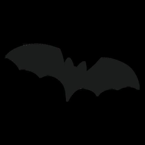 Silhueta de morcego voando
