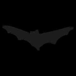Silueta de elemento de vista frontal de murciélago