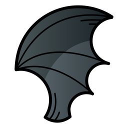 Bat wing cartoon icon