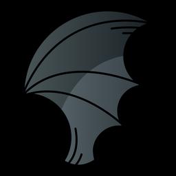 Icono de dibujos animados de ala de murciélago