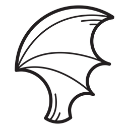 Bat wing line icon