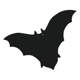 Bat with spread wings silhouette
