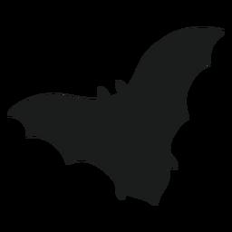 Murciélago con silueta de alas extendidas