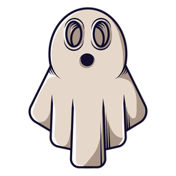 Bedsheet ghost cartoon icon
