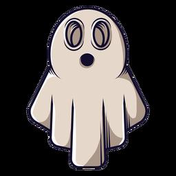 Ícone de desenho animado de fantasma de lençol