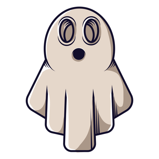 Bedsheet ghost cartoon icon