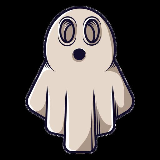 Icono de dibujos animados de fantasma de sábana