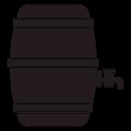 Barril de cerveza negro