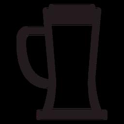 Beer mug black