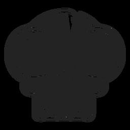 Icono de calavera de ojos grandes negro