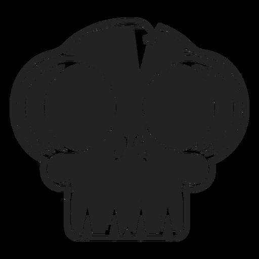 Big eyes skull icon black Transparent PNG