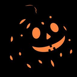 Ilustração de abóbora esculpida em preto
