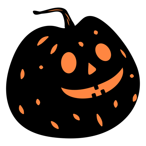 Black carved pumpkin illustration Transparent PNG