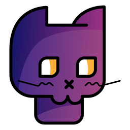 Black cat avatar cartoon icon