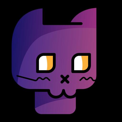 Black cat avatar cartoon icon Transparent PNG