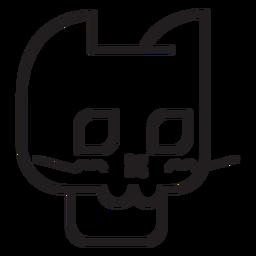 Icono de línea de avatar de gato negro