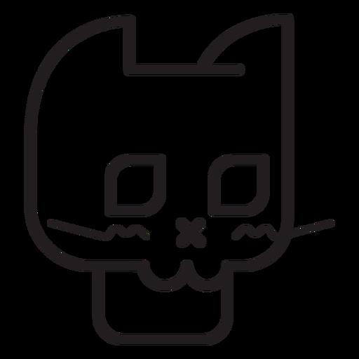 Black cat avatar line icon Transparent PNG