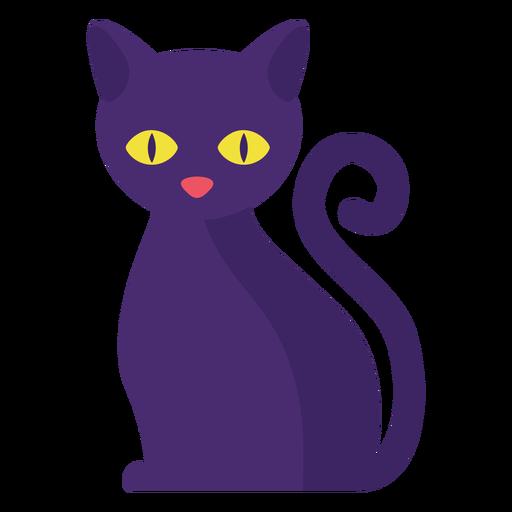 Gato negro plano halloween Transparent PNG