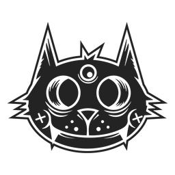 Black cat head icon black