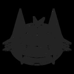 Icono de cabeza de gato negro negro