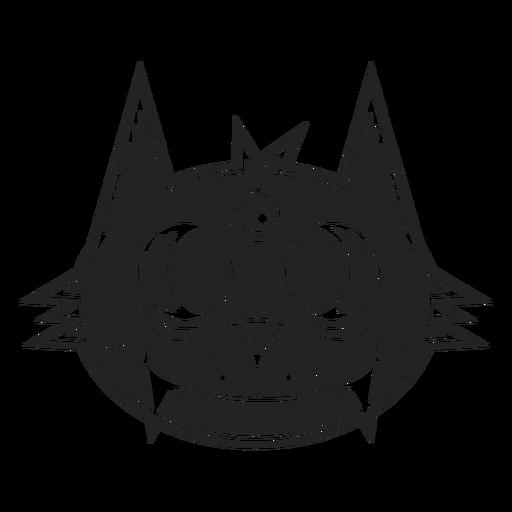 Black cat head icon black Transparent PNG