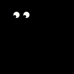Ilustração de gato preto sentado