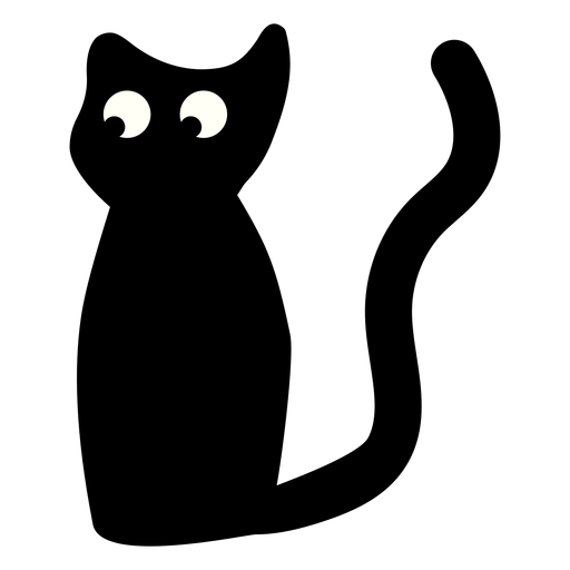 Black Cat Sitting Illustration Transparent Png Svg Vector File